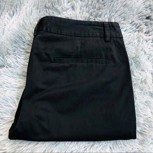 Theory Straight Leg Trousers Dress Pants Black